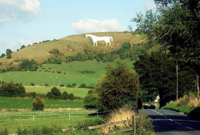 Westbury White Horse in Wiltshire